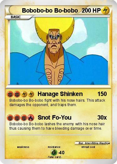 Pokémon Bobobo Bo Bo Bobo 6 6 Hanage Shinken My Pokemon Card