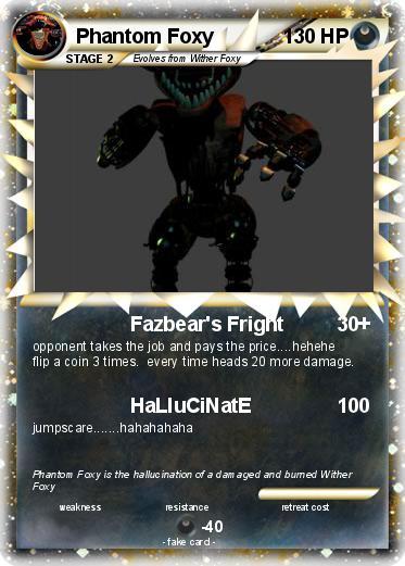 Pokémon Phantom Foxy 34 34 - Fazbear's Fright - My Pokemon ...