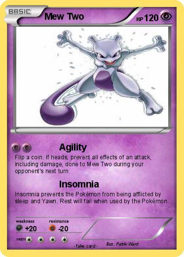 pokémon mew two 312 312 agility my pokemon card