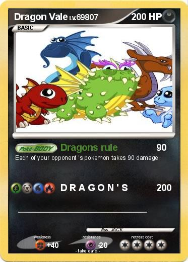 Pokémon Dragon Vale 1 1 - Dragons rule - My Pokemon Card