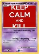 It says keep