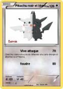 Pikachu noir et