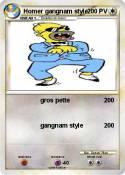 Homer gangnam