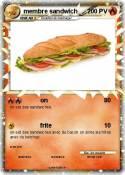membre sandwich