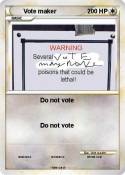 Vote maker