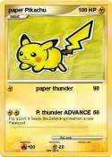 paper Pikachu