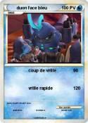 duon face bleu
