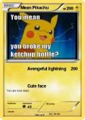 Mean Pikachu