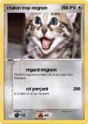 chaton trop
