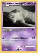 la chat blanc
