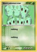 Worst pokemon