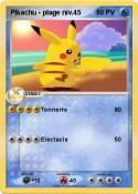 Pikachu - plage