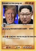 Donald vs kim