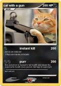 cat with a gun
