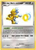 Fire star Mario
