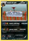 beach oil spill