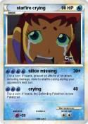 starfire crying