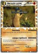 Marmotte soldat