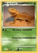 Slick my lizard