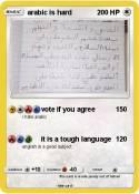 arabic is hard