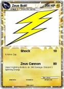 Zeus Bolt!