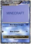 Blue minecraft