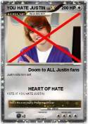 YOU HATE JUSTIN