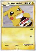 Pika want nutel