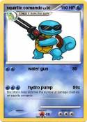 squirtle comand