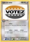 carte de votes