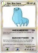 Epic Blue llama