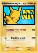 Pikachu dabbing
