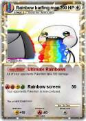 Rainbow barfing