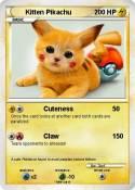 Kitten Pikachu