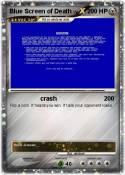 Blue Screen of