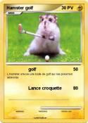 Hamster golf