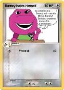Barney hates