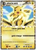 pikachu gold