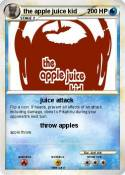 the apple juice