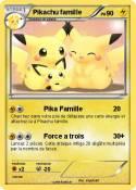 Pikachu famille