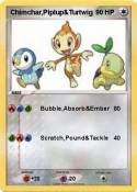Chimchar,Piplup&Turtwig