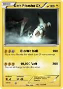 Dark Pikachu GX