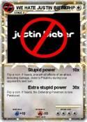 WE HATE JUSTIN