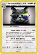 Vote cause I'm