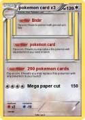 pokemon card x3