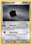 black snow wolf