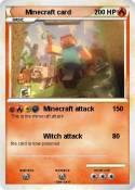 Minecraft card