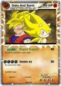 Goku And Sonic