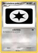 the colorless