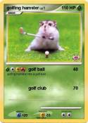 golfing hamster